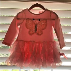Baby/toddler girls top with butterfly never worn